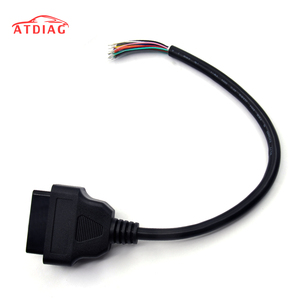 OBD2 16Pin Male Plug Connector For ELM327 Extension Adapter OBD Cable OBDII EOBD ODB2 16 Pin OBD 2 Adaptor Opening Female Cable