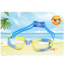 ebe1984d6 Crianças Bebê de Natação Óculos de Proteção Impermeável Anti-Fog Resistente  AOS RAIOS UV Óculos de Natação Óculos Elastic Chefe .