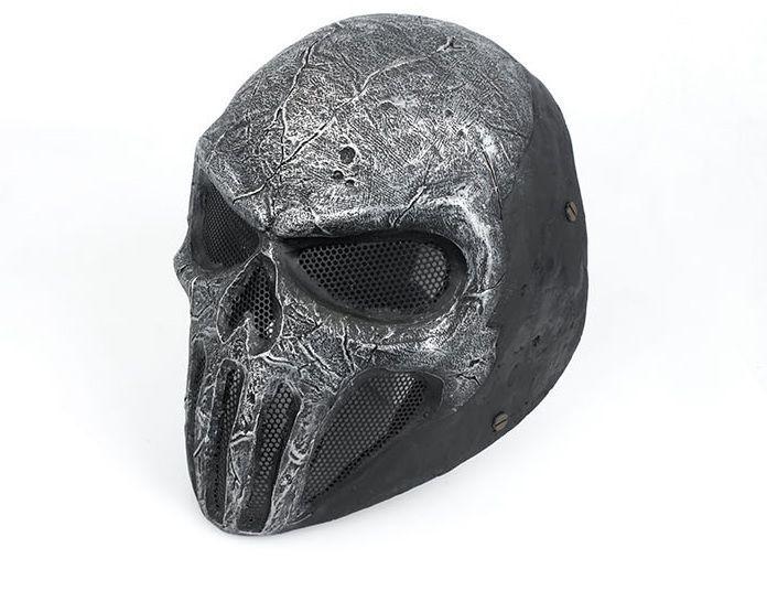 FMA Dance Mask Wire Face Mask Mesh SKULL PUNISNER ( Gray / Senior ) Dance Mask