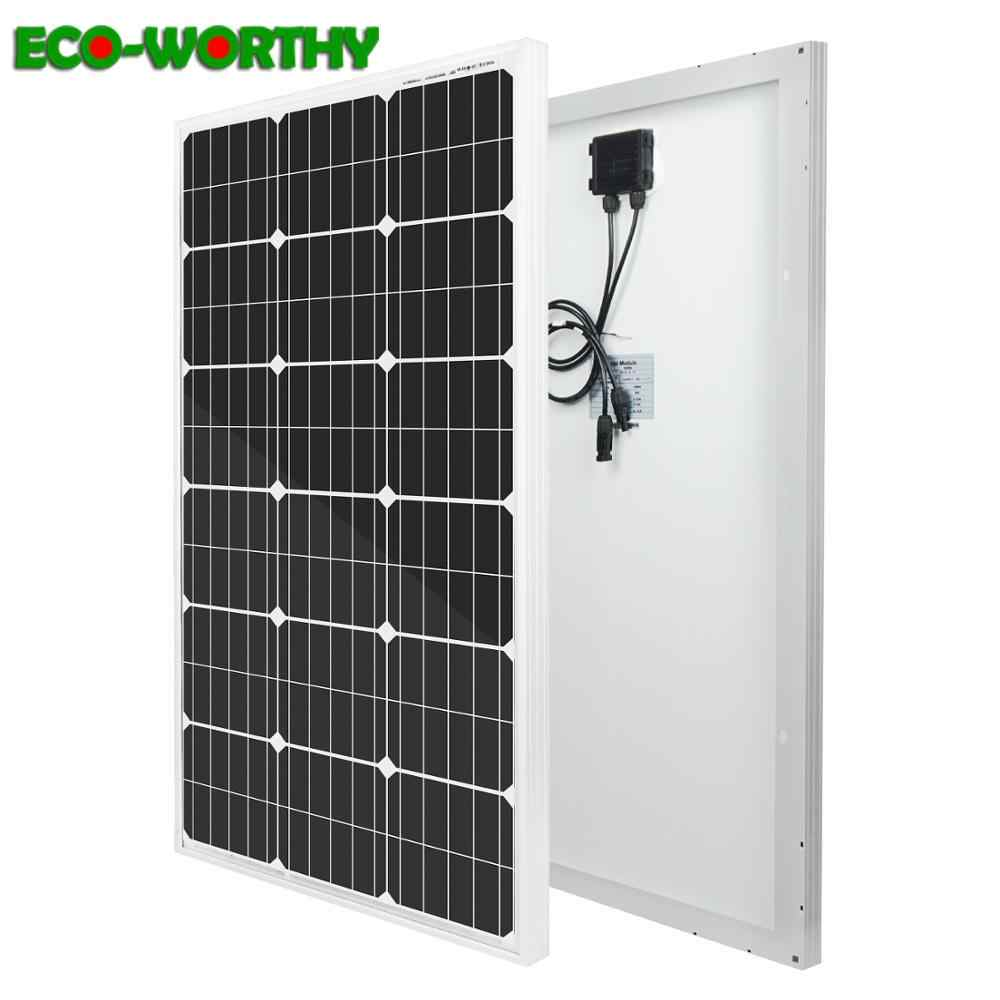ECOworthy 200W Solar Panel Kit:2pcs 100W mono Solar power Panels charger for 12V battery Off Grid Solar System for home Mono
