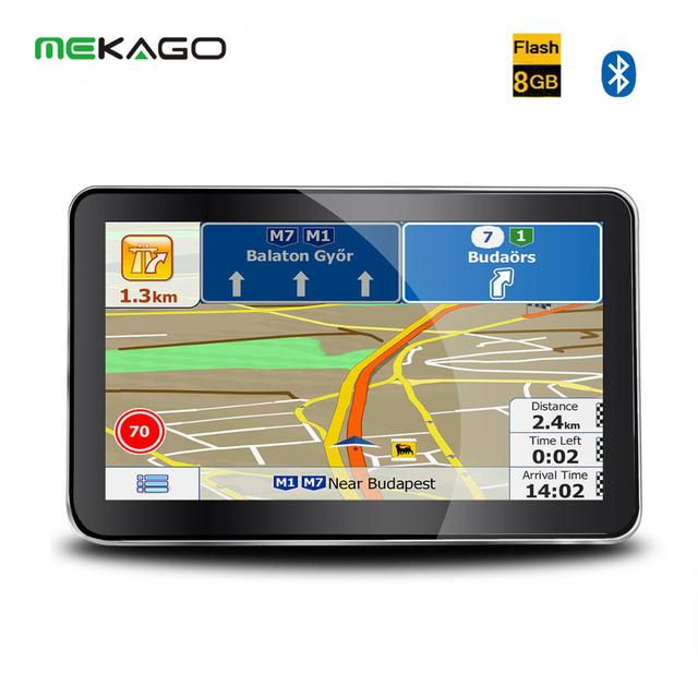 2016 Nueva 7 Pulgadas de Navegación GPS 800x480 Win CE 6.0 GPS Del Coche Con 8 GB Interna + Bluetooth + Transmisor FM + Mapas Gratuitos para el Coche, Camión