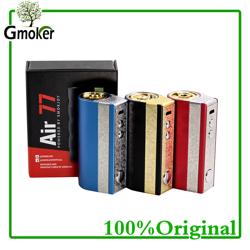 Original Smokjoy Air 77 TC box Mod temperature control  Electronic cigarette for vape fit for smok tfv8 baby original electronic cigarette mod vape pen smoant charon 218w tc box mod mechanical mod leather cover free shipping