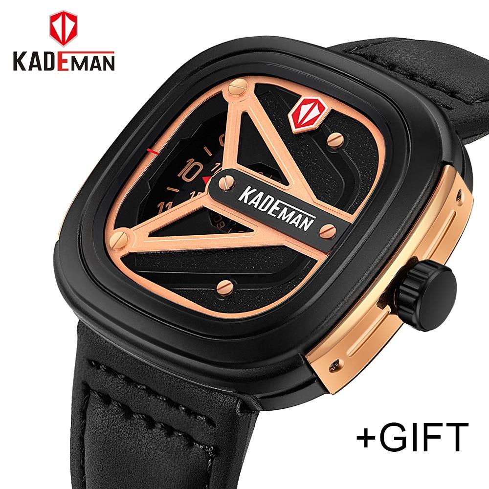 купить KADEMAM Fashion Outdoor Military Sports Watches Men Quartz Full Steel Watch 30M Waterproof Wristwatches Relogio Masculino по цене 1174.78 рублей