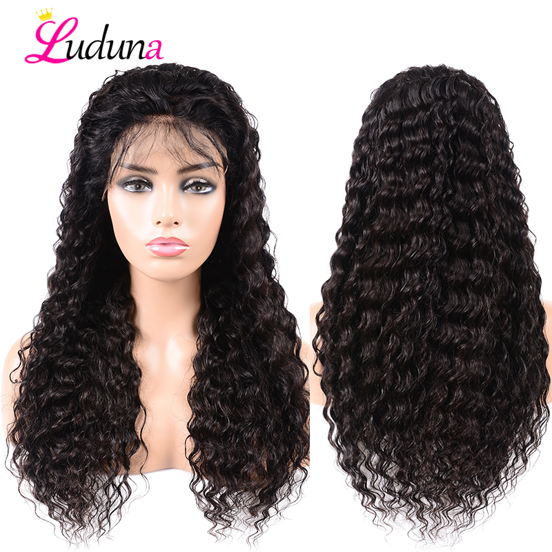 Brazilian Deep Wave Glueless Lace Front Human Hair Wigs For Black Women Pre Plucked 13 4