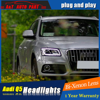 car Styling LED Head Lamp for AUDI Q5 headlights 2009 -2016 for Q5 head light LED angle eyes drl H7 hid  Bi-Xenon Lens low beam