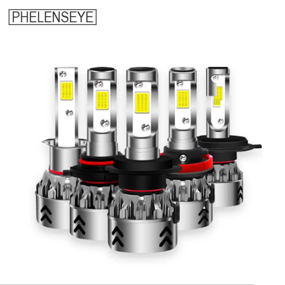 LED Car Heallight 6000K 80W 8000LM 12V 24V H1 H3 H4 H7 H11 9005 9006 COB Auto Headlamp Fog Light Beam 2PCS