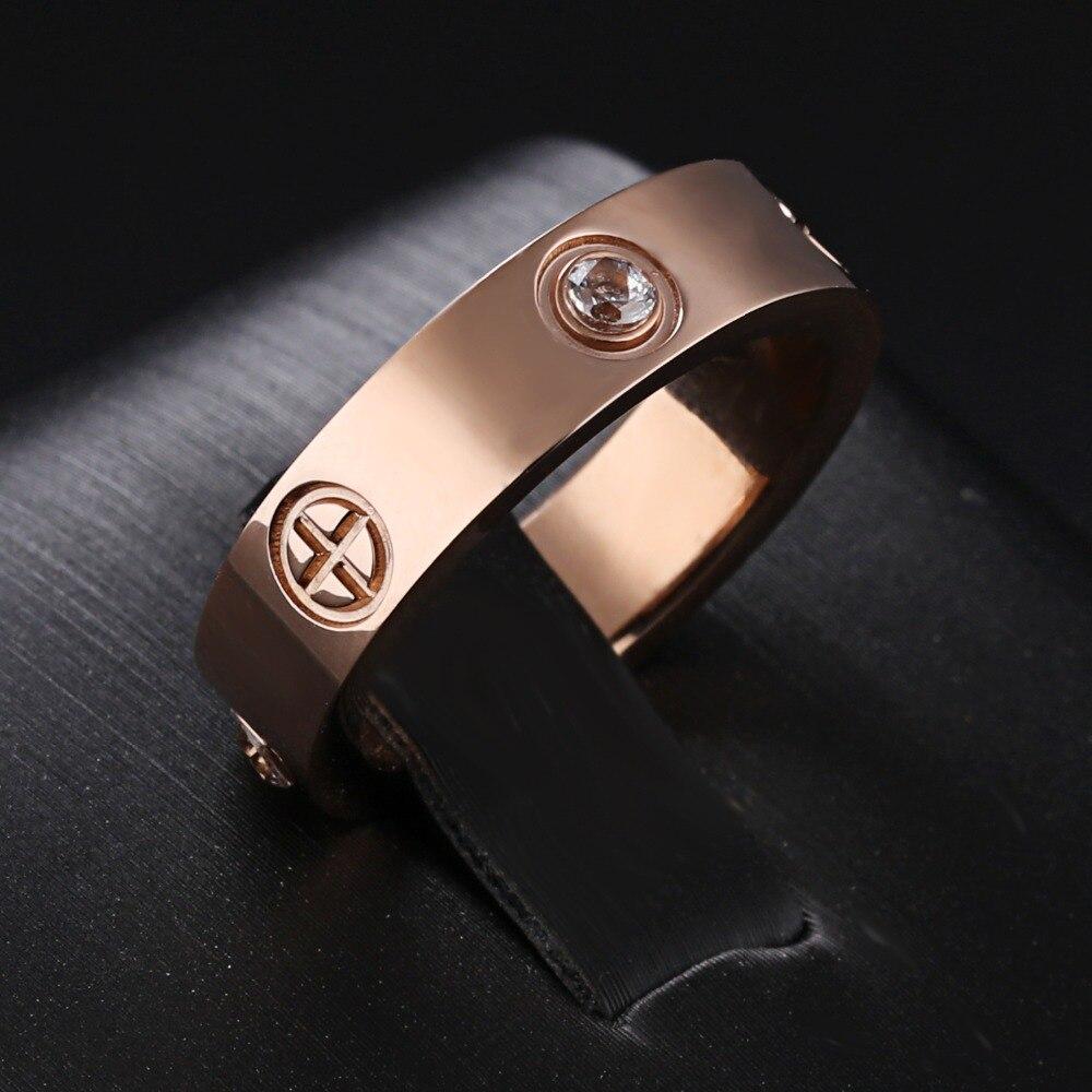 7 морей классический Обручальные кольца женщина мужчина Best подарки Любителя Promise Ring 316L нержавеющая сталь cz камень выгравированы ювелирные и...