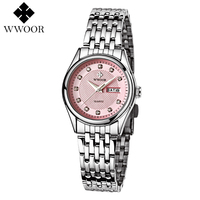 WWOOR Brand Women Watches Top Luxury Fashion Female Quartz Watch Ladies Casual WristWatch Hours Date Clock