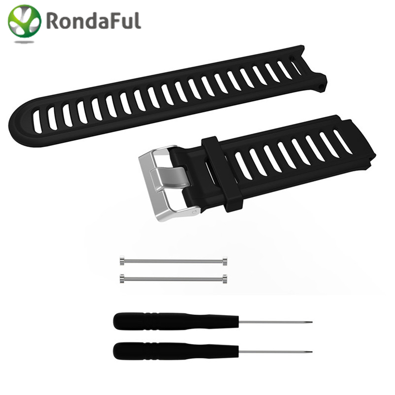 Silicone Soft Watchband Strap For Garmin Replacement Band for Garmin Forerunner 910XT GPS Running Training Sports Watch Strap