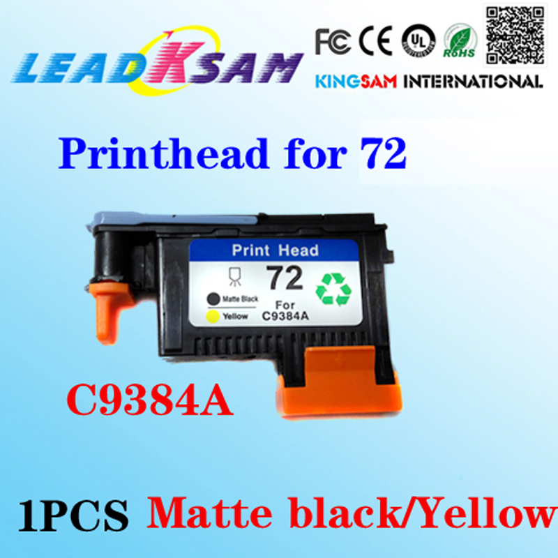 1x Matte Black Yellow Printhead Compatible For Hp72 C9384a Designjet 2300/t610/ T620/t770/t790 Printer Diversified In Packaging