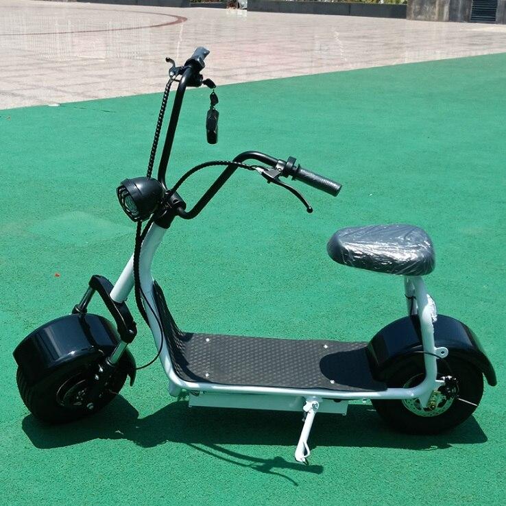 Moto électrique vélo Citycoco scooter électrique mini e vélo moteur 1000 W batterie au Lithium 48 V/12A moto électrique
