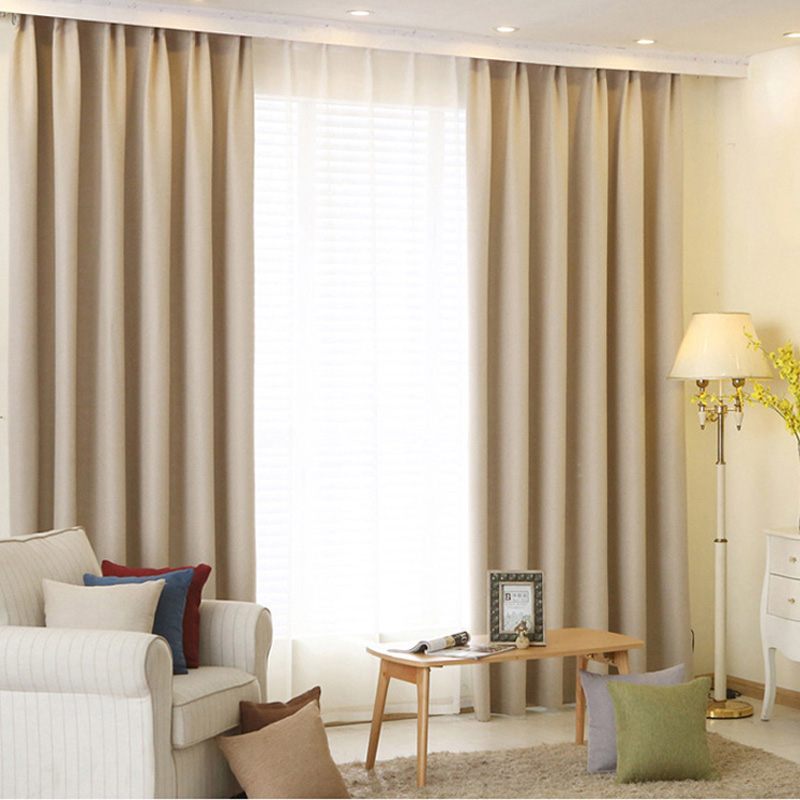 Solid color Blackout curtains Modern Bedroom Decorations Drapes ...