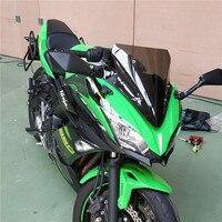 Fast Shipping Motorcycle black Windshield Windscreen Window for KAWASAKI Ninja650 Ninja 650 2017 ABS KRT Edition 2017 2018 2019