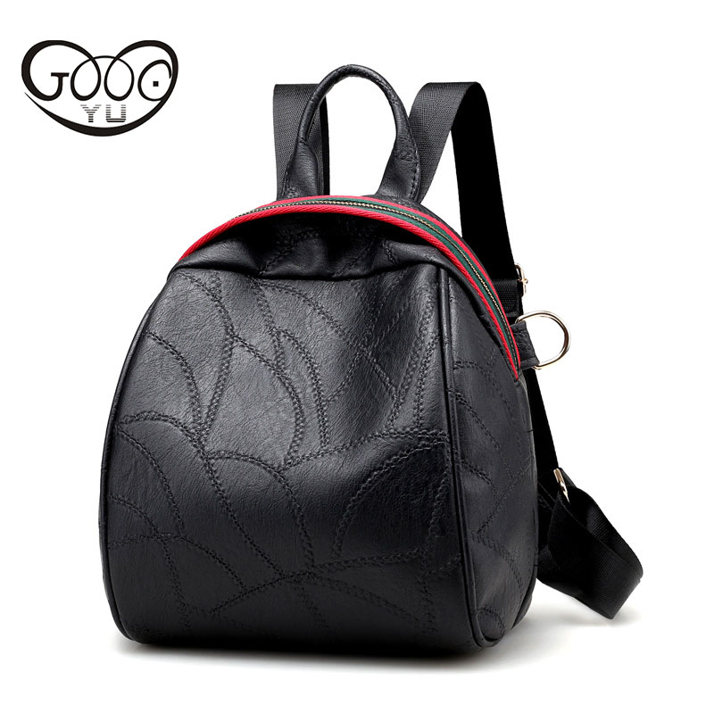 Fashion simple and elegant leather backpack for teenage girls new fashion wild trend backpacks for teenage
