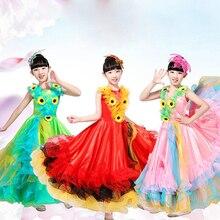 Детские костюмы для испанских танцоров, сексуальное платье для фламенко, костюмы для девочек, одежда для выступлений с цветами, костюмы для бальных танцев, 360 градусов