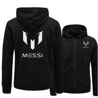 New Fashion Brand Hoodies Men MESSI Print Casual Sportswear Man Hoody Zipper Long Sleeved Sweatshirt Slim