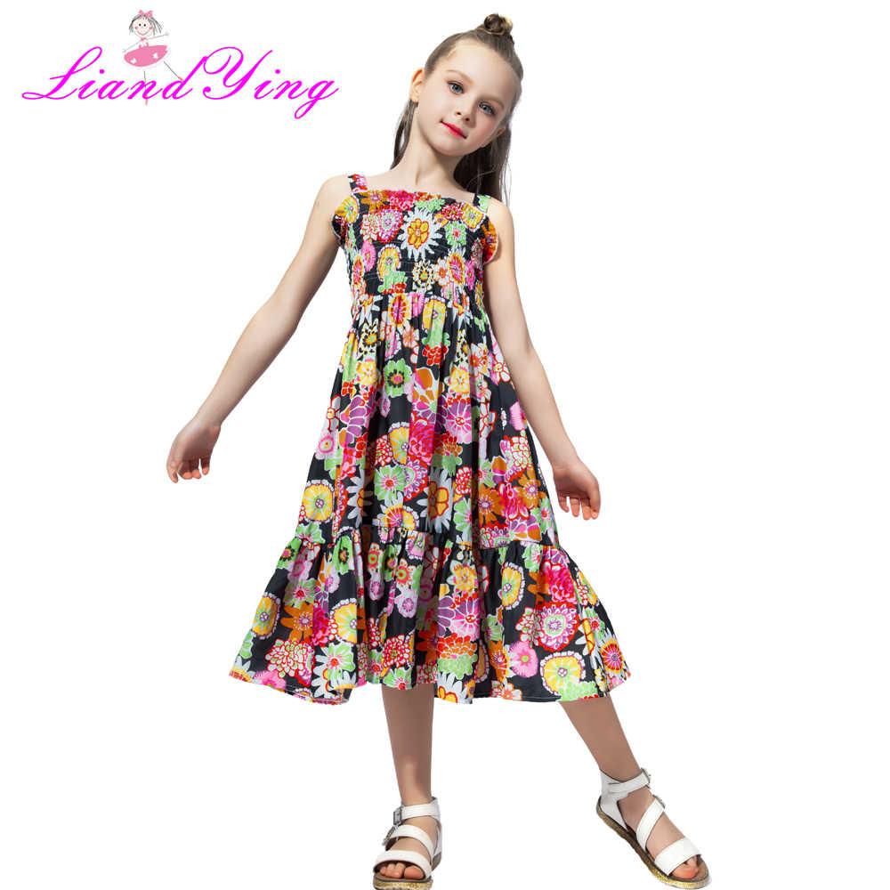 3893b2b5e2f ... 2018 бренд в богемном стиле детское платье для девочек летние цветочные  Платья для вечеринок Одежда для ...