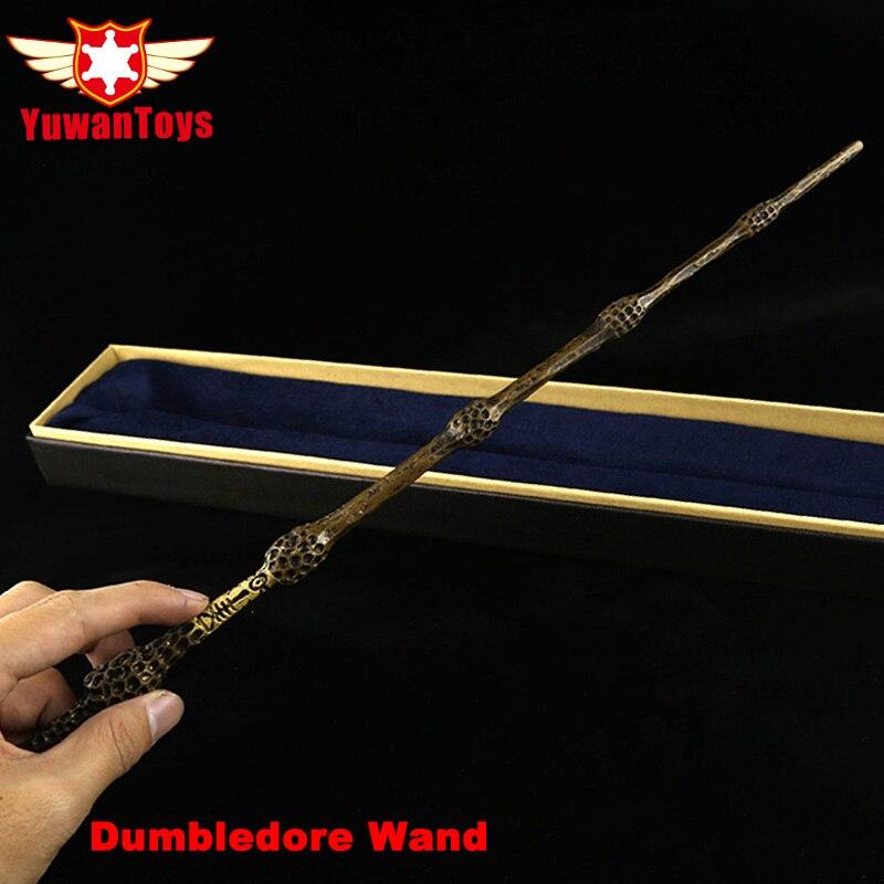 Nucleo di Ferro del Metallo di qualità Deluxe COS Albus Silente Bacchetta Magica di Magico Bastone Con Scatola Confezione Regalo Di Harry Potter Movie