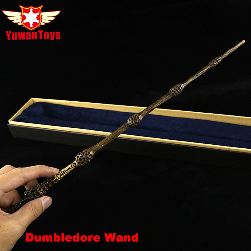 Quality Metal Iron Core Deluxe COS Albus Dumbledore Magic Wand Of Magical Stick With Gift Box Pack Of Harry Potter Movie