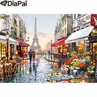 "DIAPAI Diamond Painting 5D DIY 100% Full Square/Round Drill""Paris street scenery""Diamond Embroidery Cross Stitch 3D Decor A25095"