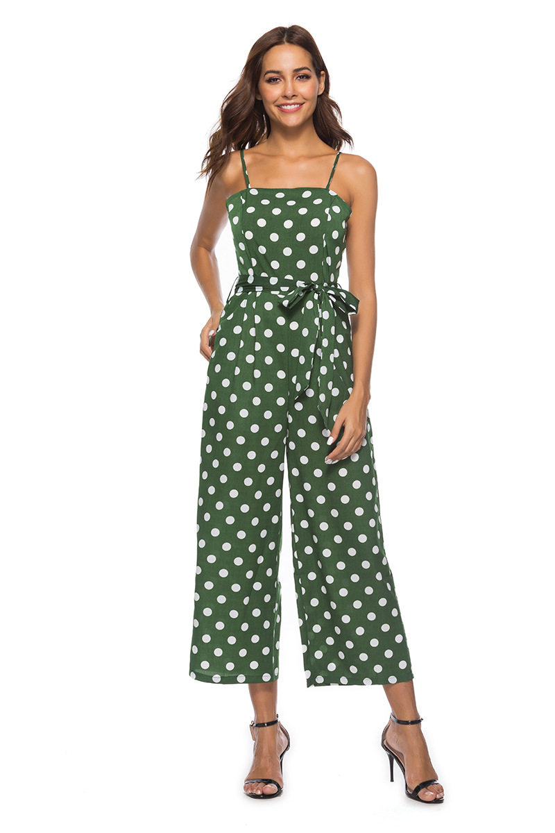 HTB1W.oFbiLxK1Rjy0Ffq6zYdVXal - Women Rompers summer long pants elegant strap woman jumpsuits polka dot plus size jumpsuit off shoulder overalls for womens