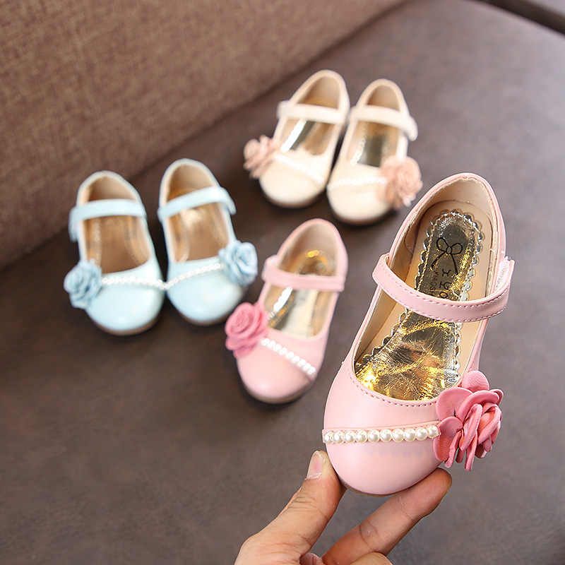 Girls Shoes Big Bow Crystal Princess Shoes For Kids Big Girls Party Bling  Children Shoes Pink 9204f9c84240