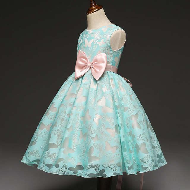 c26ebed3e Online Shop Fancy Butterfly Kids Girl Wedding Flower Girls Dress ...