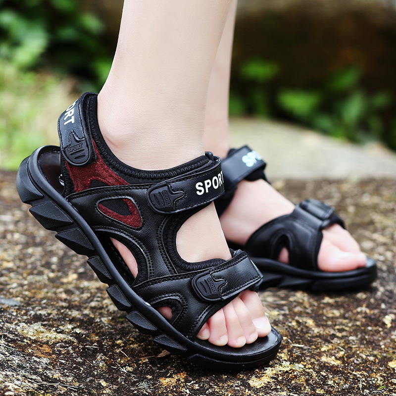 2017 Summer boys sandals new style childrens casual sandals big boys leather comfort shoes for kids boy beach sandals