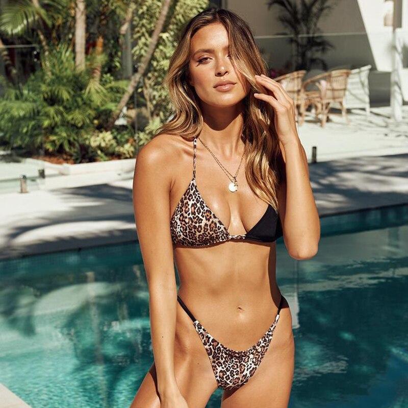HTB1W.oaXG67gK0jSZFHq6y9jVXae leopard swimwear women swimsuit brazilian thong bikini 2019 bathing suit women high waist bikinis push up swimming suit biquini