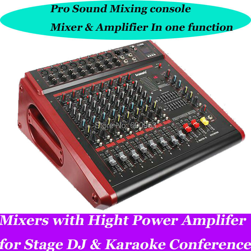 Professional 8ch usb sound mixing console 2800w high power amplifier mixer in one function in - Professional mixing console ...