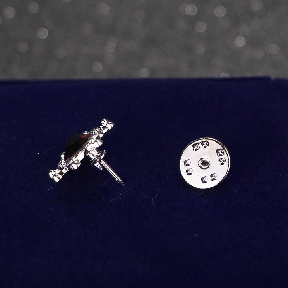 Aku-Remiel Angkatan Laut Mini Bros Peniti Kristal Kecil Mantel Kemudi Kerah Pin Bros untuk Pria Jas Kemeja Pin kerah Aksesoris
