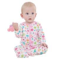 2018 새로운 아기 신생아 장난 꾸러기 긴 소매 잠옷 핑크 바디 100% 면 의류 유아 아기 봄