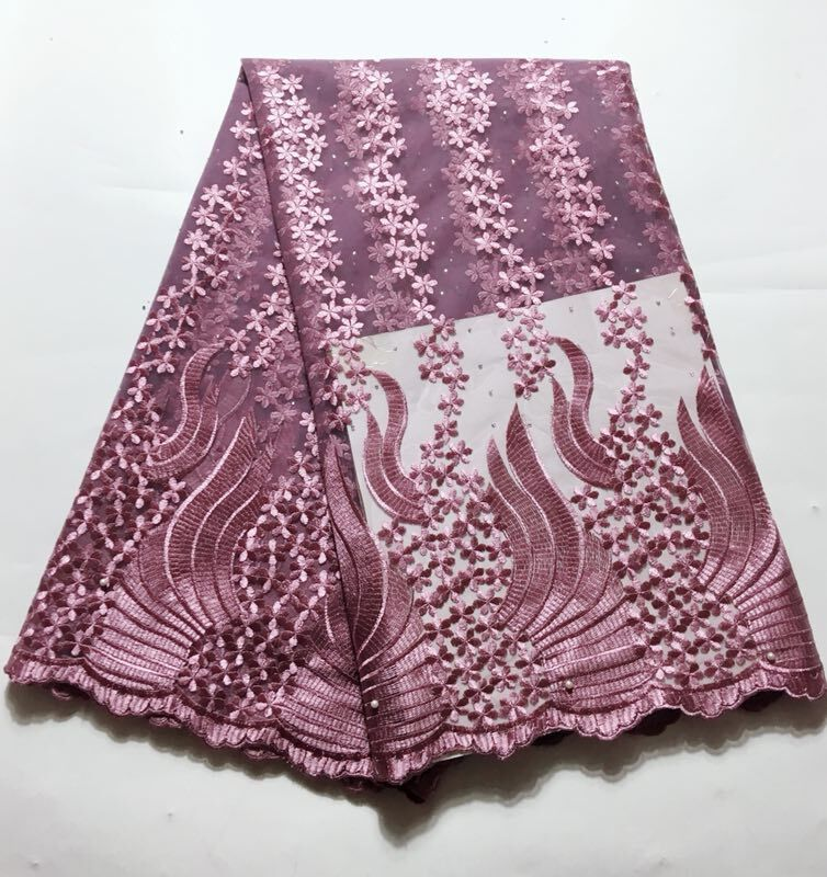 Learned 2019 Latest Nigerian Laces Fabrics High Quality African Laces Fabric For Praty Wedding Dress French Tulle Lace With Stone Home & Garden Arts,crafts & Sewing