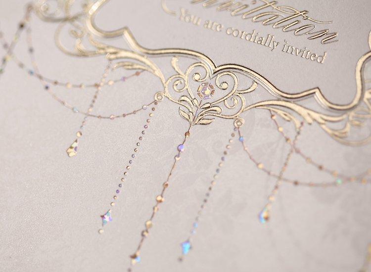 Pocketfold Wedding Invitation Pearlescent Texture