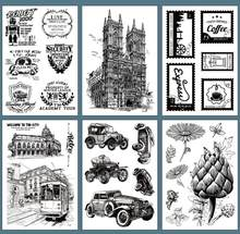 European Building old car Clear Stamp Transparent Clear silica gel Rubber Stamp Seal Paper Craft(China)