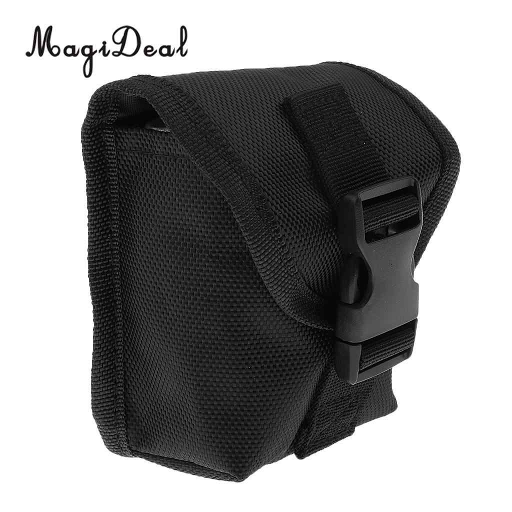 Scuba Diving Spare Weight Belt Pocket 4 x 4.3 inch with Eyelet Quick Release