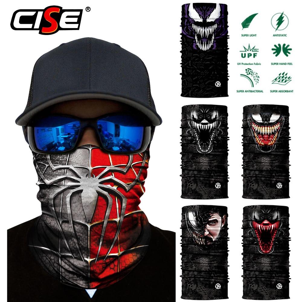 Motorcycle Balaclava Magic Neck Face Mask Ghost Skull Motor Tactical Skiing Motorbike Scarf Bandana Head Shield Helmet Sun Mens