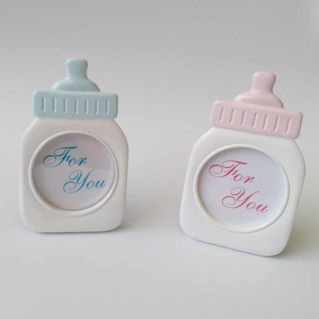 Feeding Bottle Shape Photo Frame Baby Children Picture Holder Stand Home Office Ornament Gift
