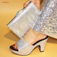 Doershow الأحذية الايطالية مع أكياس مطابقة ل أحذية الزفاف المرأة و حقيبة لمباراة لحزب النيجيري حذاء وحقيبة مجموعة SBV1-6