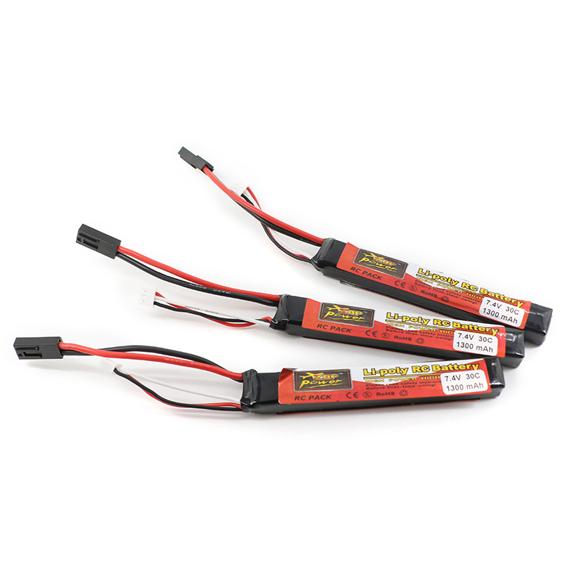 3pcs ZOP RC Lipo Battery 7.4V 1300mAh 30C 2S AKKU Battery Tamiya Connector For Mini Airsoft Gun Model