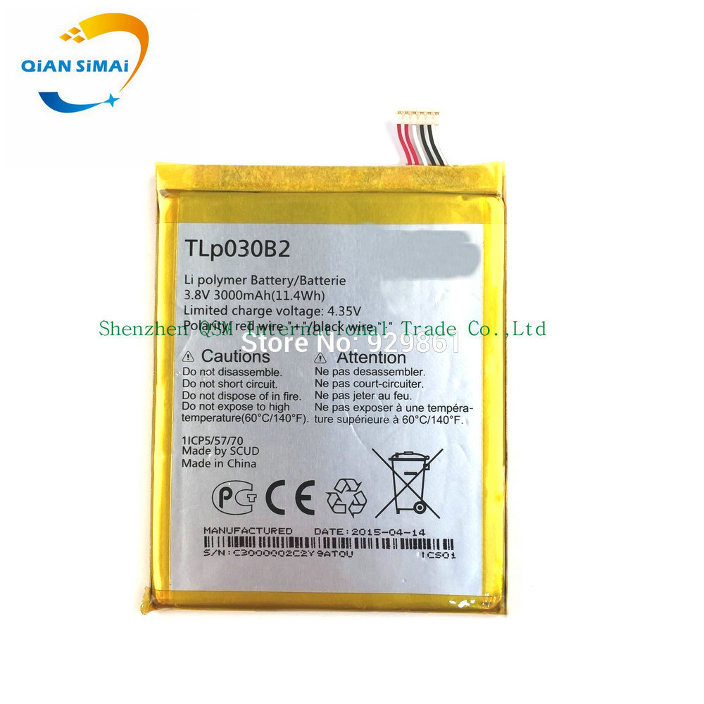 100% high quality TLp030B2 TLp030B1 battery For Alcatel One Touch Pop S7 OT 7045 <font><b>7045Y</b></font> Vodafone phone +track code image