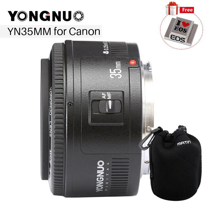 YONGNUO 35mm Lentille YN35mm F2 Lens 1:2 AF/MF Large-Angle Fixe/Premier Auto Focus Lens pour Canon EF Mont EOS Caméra EOS 5DII 5 DIII