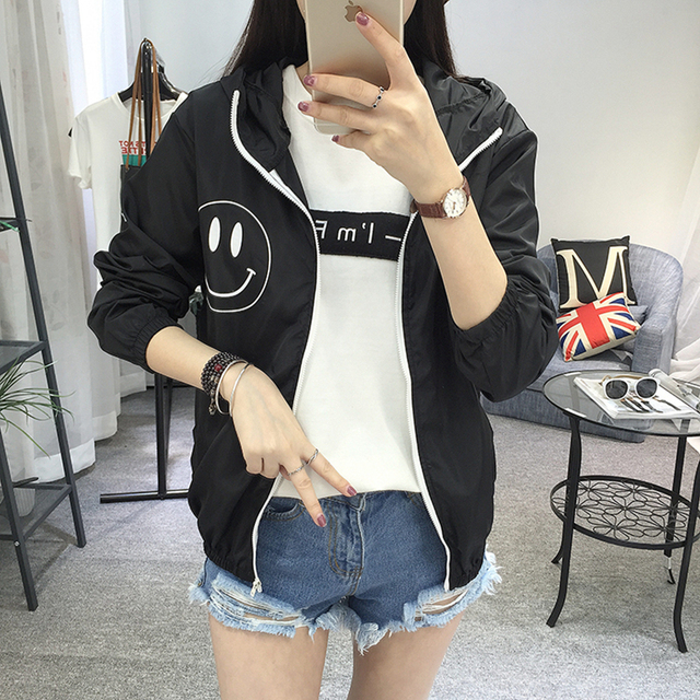 Women Basic Jacket New Fashion Hooded Thin Outwear High Quality Windbreaker Female Summer/Spring Sunscreen Jacket 2018 4
