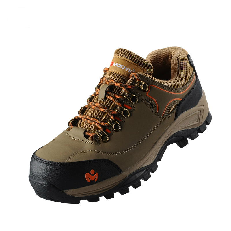 breathable steel toe caps work safety shoes plate bottom outdoor non-slip hiking tooling ankle boots soft cow leather zapatos
