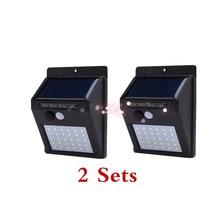 Free Shipping 2 SETS Solar Powered Wall Light Motion Sensor Outdoor Garden Security Lamp muqgew Security Wall light Waterproof