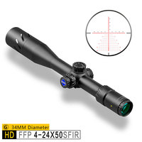 Discovery HD 4 24X50 SFIR Tactical Scopes First Focal Plane ffp Military Rifle Scopes 34MM Tube Glass Etched Illuminated Reticle