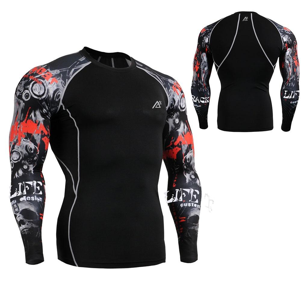 Hombres nuevas medias de piel camiseta transpirable de secado rápido - Ropa deportiva y accesorios