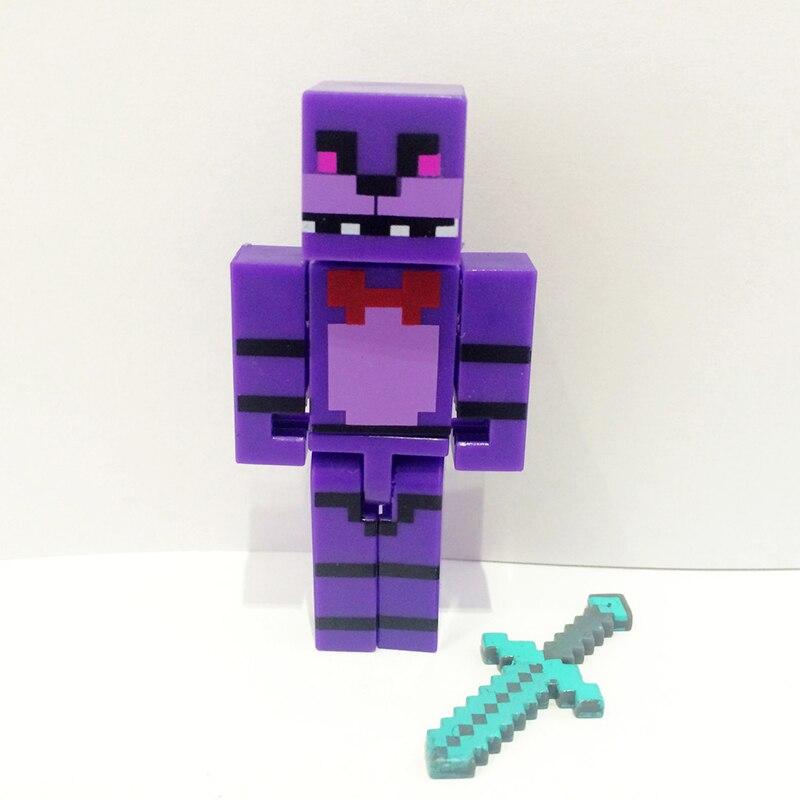 4 հատ / սահմանել Minecraft- ը հինգ գիշեր - Խաղային արձանիկներ - Լուսանկար 5