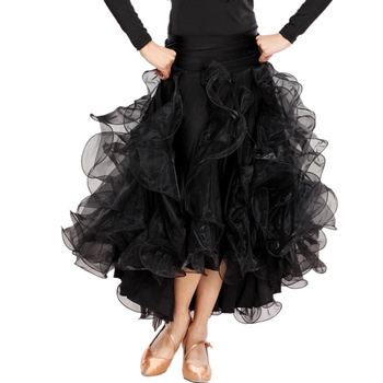 Ballroom Dance Skirts Yellow/Rose/Red/Green/Sapphire Waltz Dance Dress M/L/XL Tango Skirt Vestido De Baile Free Shipping