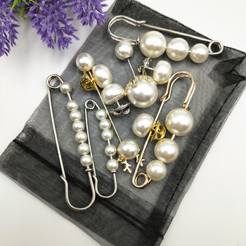 Fashion Simulated Pearl Brooches Pin Dress Rhinestone Decoration Buckle Pin Jewelry silver gold Brooches Gifts For Men Women funmor korean round lady brooches simulated pearl metal corsage circle scarf decoration hair sweater cloak buckle pins jewelry